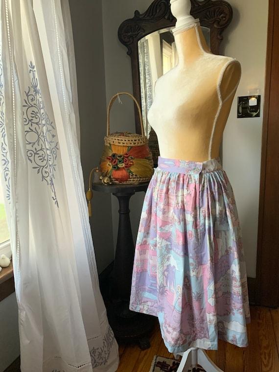 Vintage Novelty Psychedelic Skirt, Vintage Zodiac… - image 9