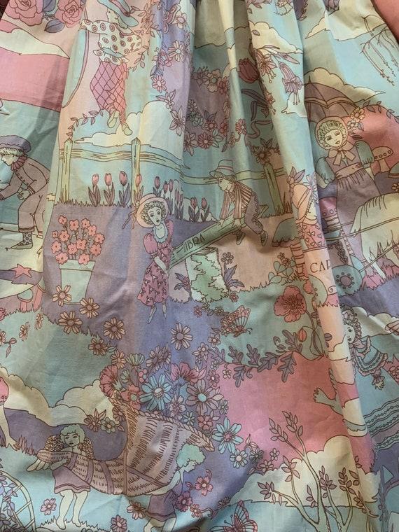 Vintage Novelty Psychedelic Skirt, Vintage Zodiac… - image 2