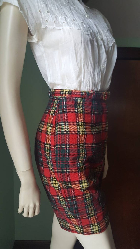 50s Wool Shorts, 50s Plaid Shorts, Size Small, Sm… - image 5