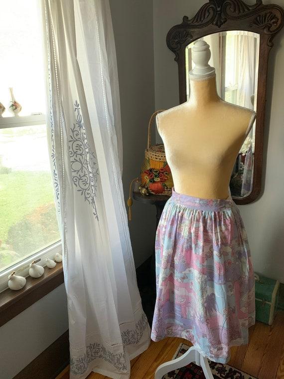 Vintage Novelty Psychedelic Skirt, Vintage Zodiac… - image 6