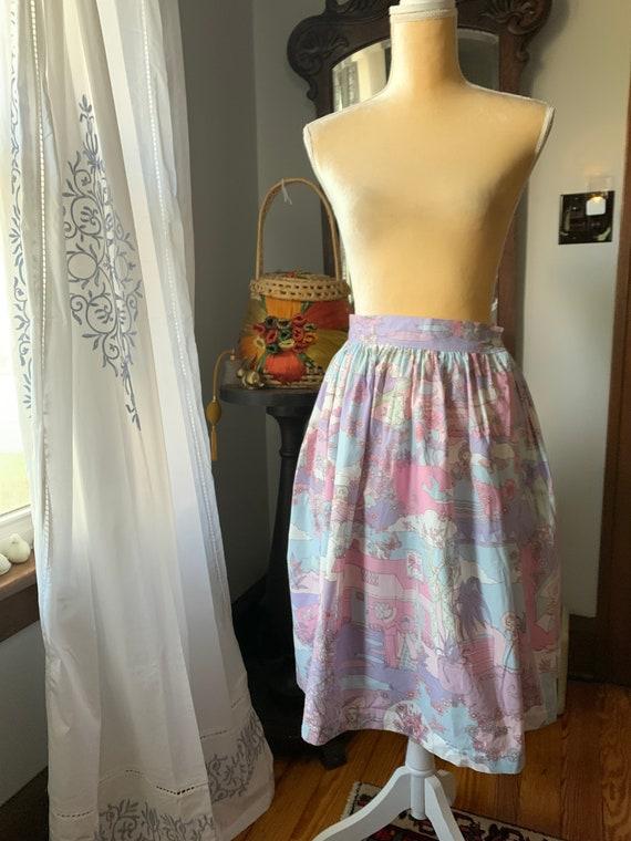 Vintage Novelty Psychedelic Skirt, Vintage Zodiac… - image 10