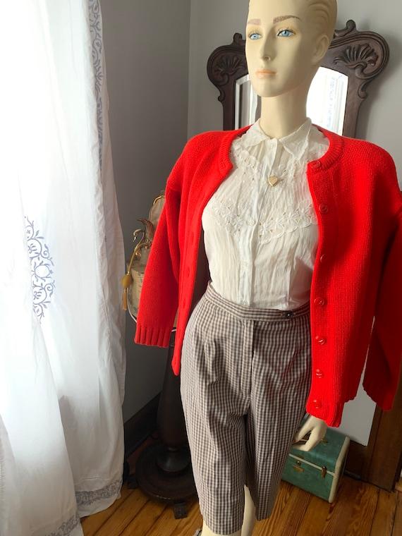 Vintage Plaid Shorts, 1940s Plaid Shorts, 1950s P… - image 8