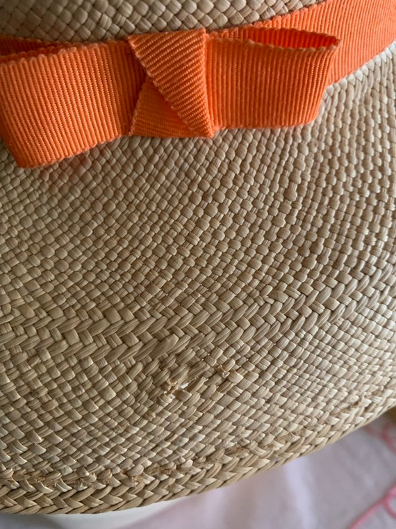 50s Straw Hat, 40s Straw Hat, Vegetable Straw Hat… - image 8