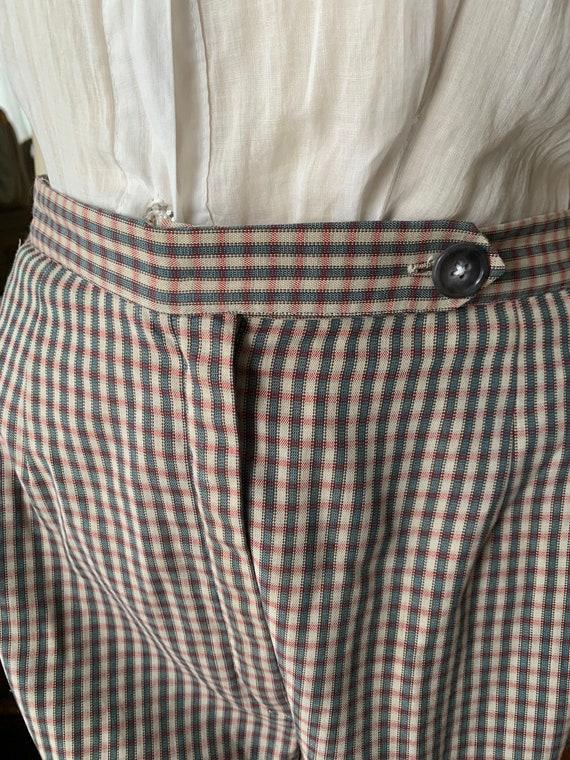 Vintage Plaid Shorts, 1940s Plaid Shorts, 1950s P… - image 5