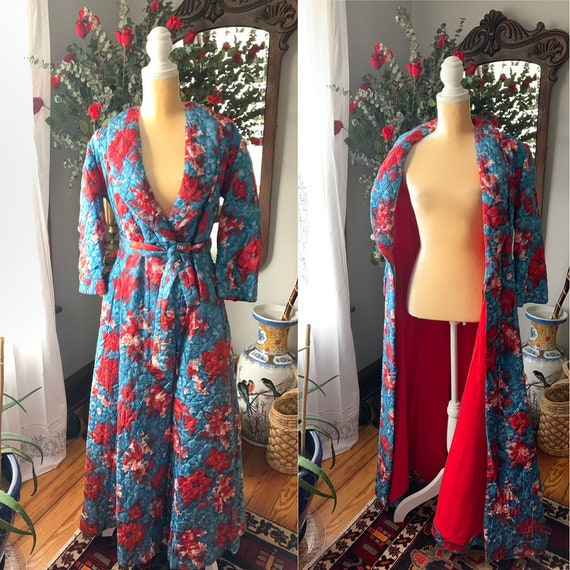 40s Quilted Robe, 50s Quilted Robe, Rhapsody Glazi