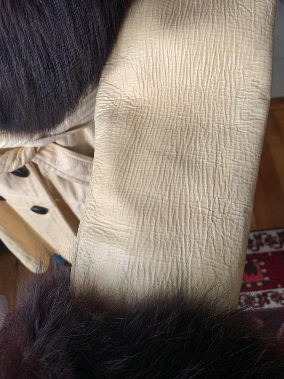 Vintage Lilli Ann Fox Fur Collar Trench, 60s Lill… - image 6