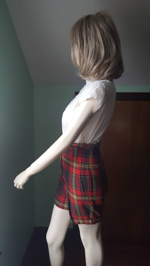 50s Wool Shorts, 50s Plaid Shorts, Size Small, Sm… - image 7