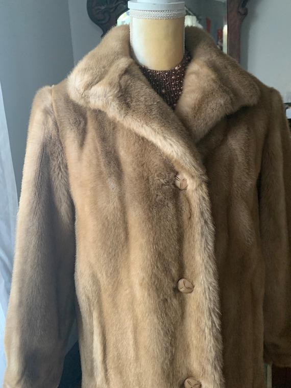 Long faux  Fur coat faux Mink Almost Famous Long Winter plush vegan fur Vintage Mink  Faux Fur  Coat sale