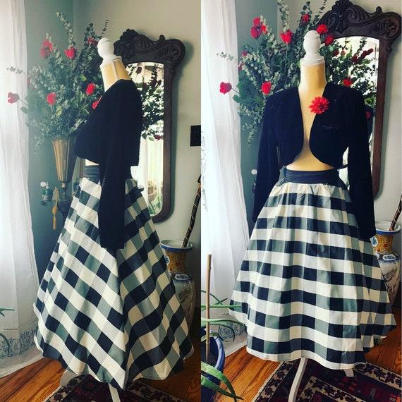90s Gingham Gunne Sax Skirt, Jessica McClintock Gi