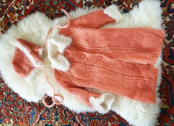50s Princess Sweater Jacket Matching Hat, Vintage