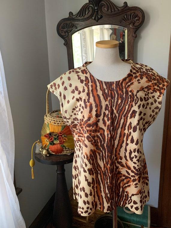 Vintage Leopard Print Shirt, Vintage Leopard Print