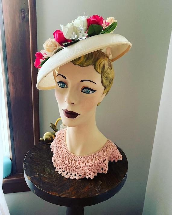 50s Rose Hat, Vintage Hat With Roses, 50s Flower … - image 9
