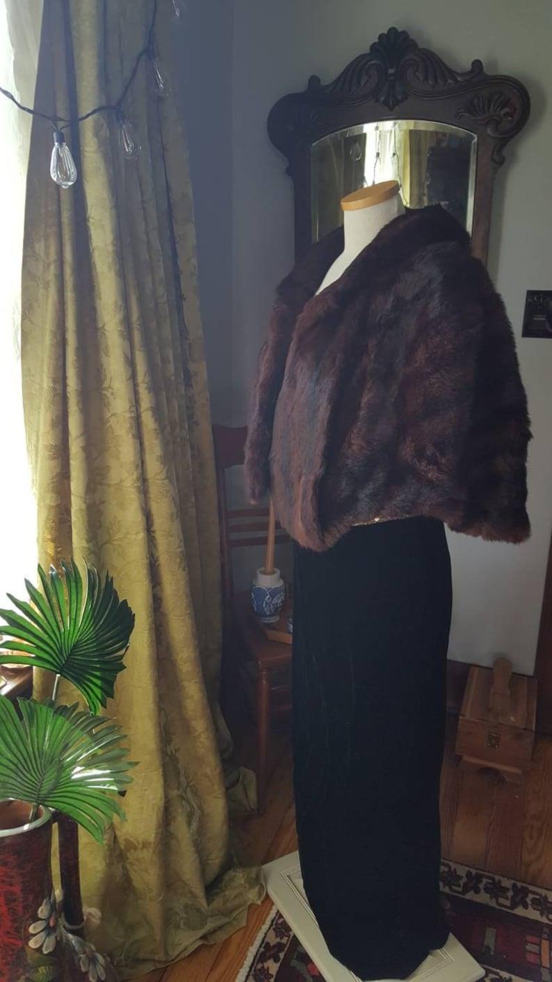 Vintage Fur Stole 1950s Mink Wrap 1950s Fur Wedding Shawl 50s Fur Bridal Cape Vintage Mink Capelet Vintage Fur Winter Bride Capelet