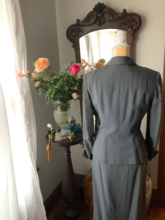 40s Grey Suit, Rothmoor Dress Suit, Vintage Slate… - image 2