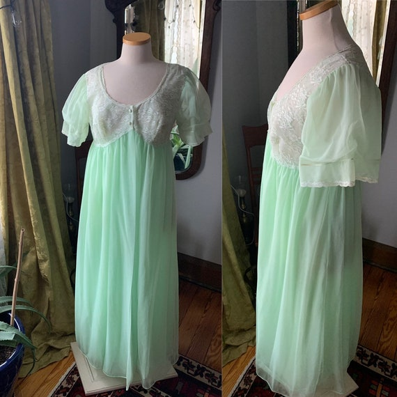 50s Nightgown Set, Val Modes Nightgown, Vintage Ni