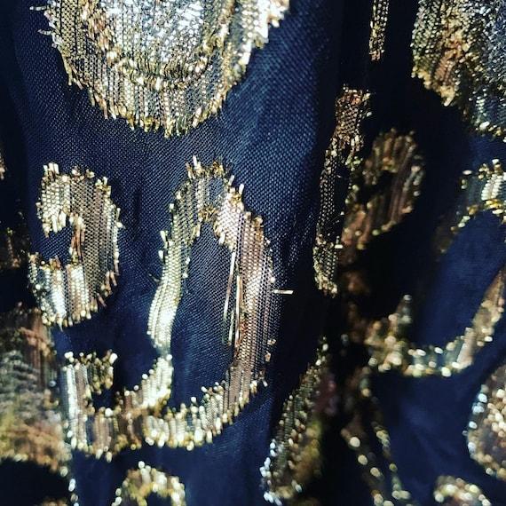 Vintage Metallic Skirt, Vintage Long High Waist S… - image 8