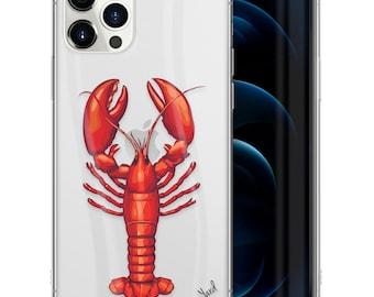 Lobster Duxbury Damask Impact Resistant Phone Case