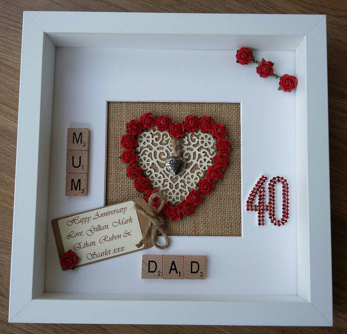 Ideas For 40th Wedding Anniversary Gifts: Personalised 40th Ruby Wedding Anniversary