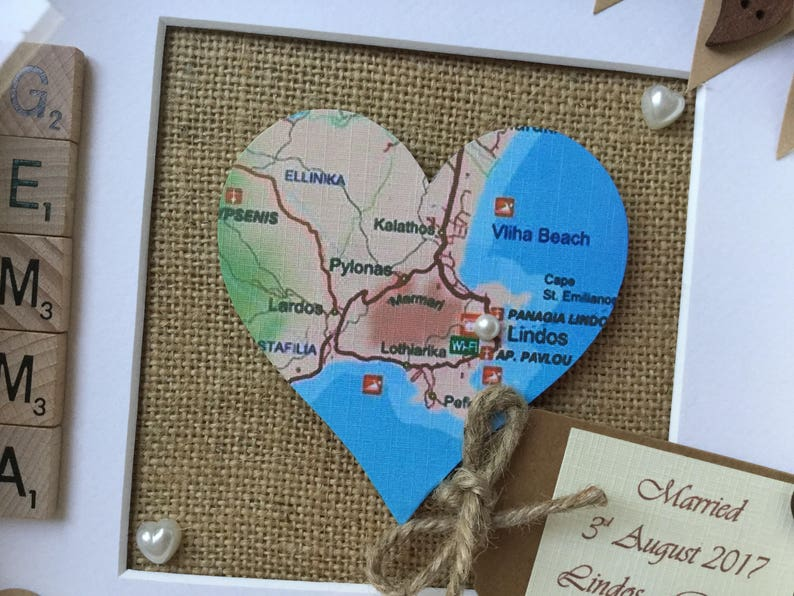 Mr /& Mrs Heart Map Engagement location  Marriage,New Home location Picture Personalised Wedding location gift Wall Art