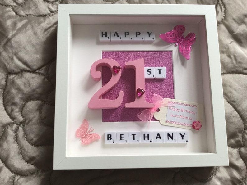 Picture Number 40 50 Scrabble Tile Mum Sister Daughter Nanna Grandma Grann Auntie Aunty Personalised 18 Milestone 21 30 Friend