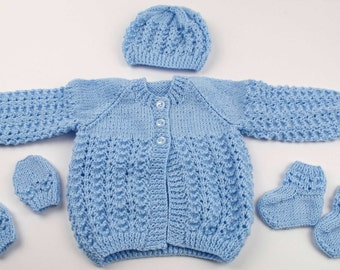 Lullaby Layette - Jacket, Hat, Booties & Mittens