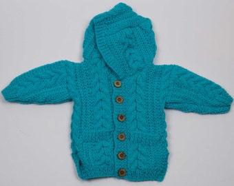 Child's Aran Jacket with Hood