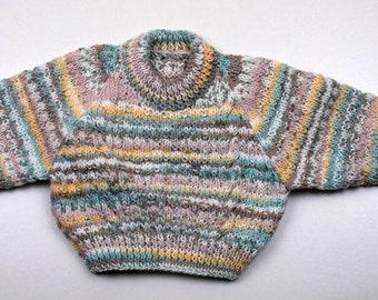 """Childs Round Neck Sweater 6 Month 18"""""""