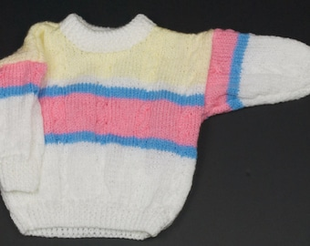 Childs Round Neck Cable Sweater