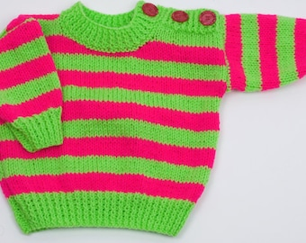 WOW this is LOUD !!! Childs Round Neck Sweater with button shoulders