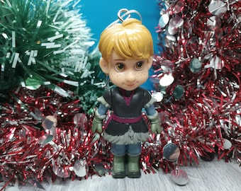 Christmas Decorations Disney Toy Ornament Upcycled Toy Disney Troll Bulda From Frozen Christmas Ornament Custom Ornament