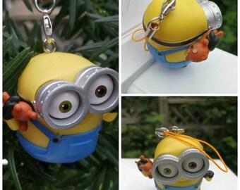 upcycled toy minion christmas tree ornament minion with toy bear christmas ornament pvc toy figurine minion christmas decorations