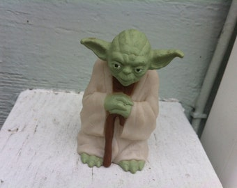 3233d930c94 Vintage Yoda Star Wars Action Figure Cake Topper - Birthday Yoda Star Wars  - Plastic Figure -Plastic Figurine Toy -  8