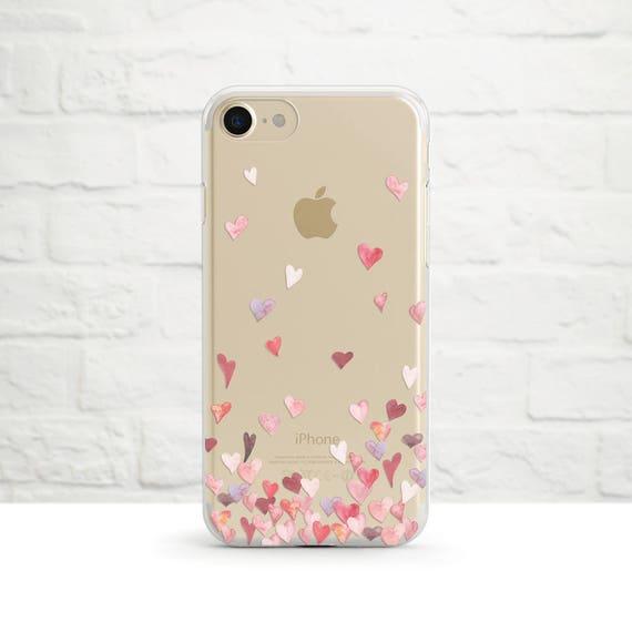 Tout l'amour dans le monde, claire étui téléphone, iPhone 8, iPhone 7, iPhone 7 plus, iPhone 6, SE iPhone, Samsung