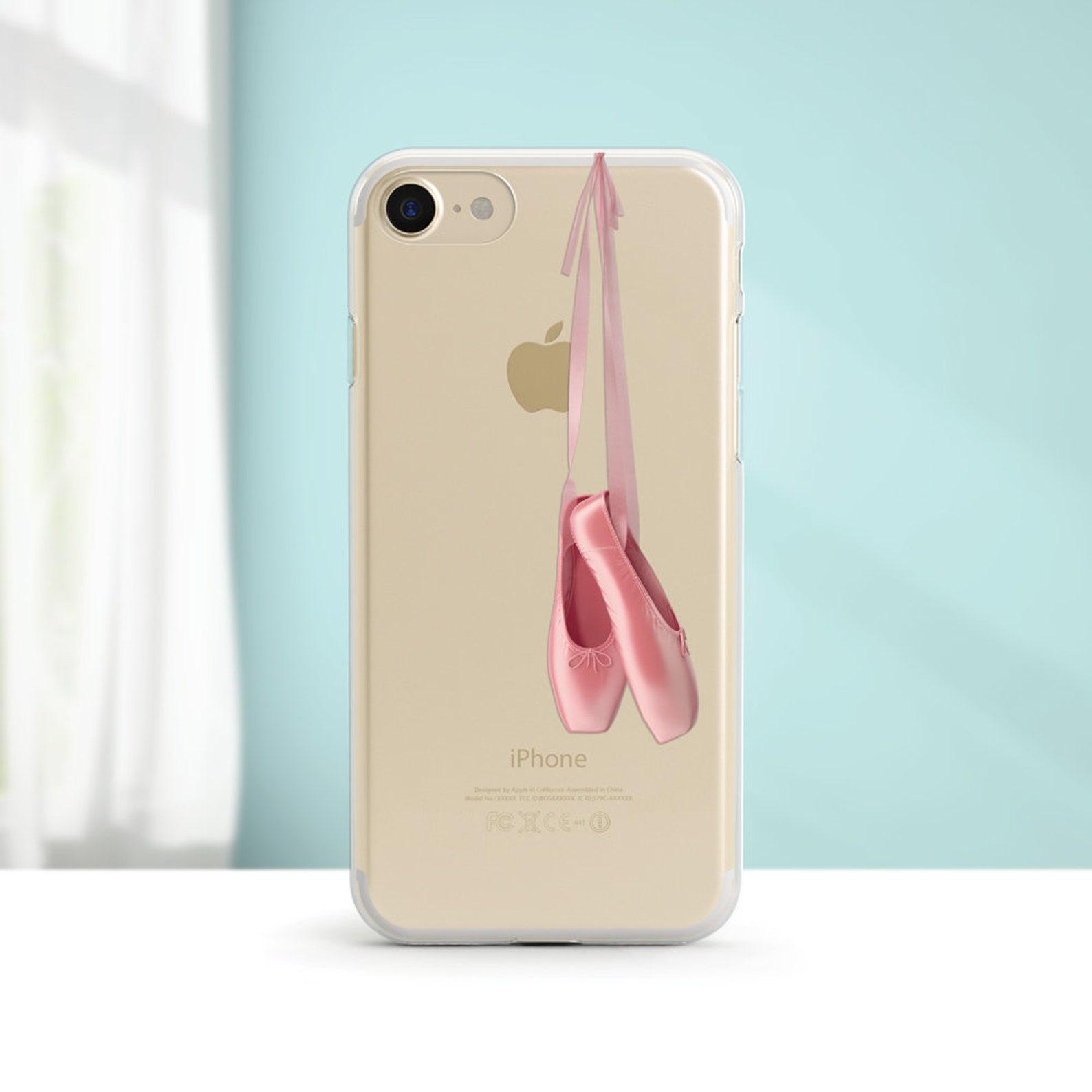 ballet, pointe shoe, clear soft phone case, iphone xs max, iphone xr, iphone 8, iphone 7, iphone 7 plus, iphone 6, iphone se, sa