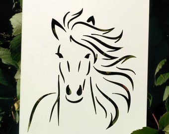 Donkey horse  A4 Mylar Reusable Stencil Airbrush Painting Art Craft DIY