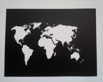 World map stencil etsy world map stencil plastic reusable painting art supply wall art custom size gumiabroncs Images
