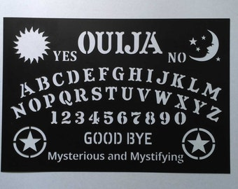 Stencil Ouija Board Talking Mystifying Halloween Painting Art Supply Wood Sign Plastic Reusable