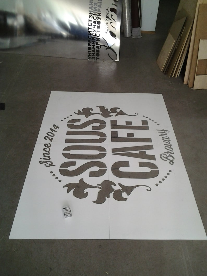 Custom Plastic Stencil / Wall Decals Reusable/ Anything You image 0