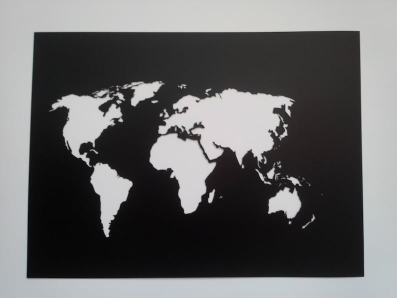 World Map Stencil Plastic Reusable Painting Art Supply Etsy