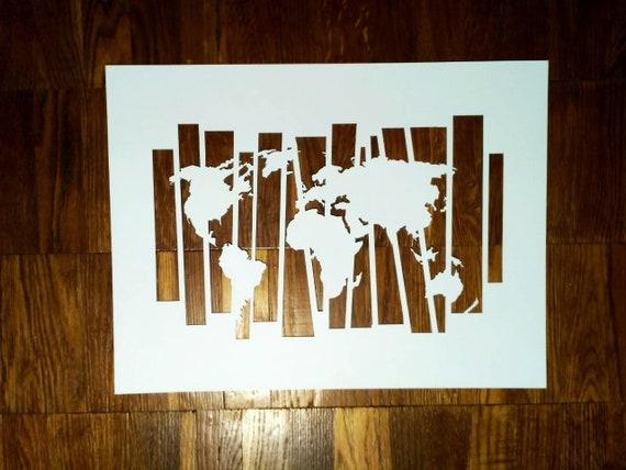 Schablone Weltkarte2 auf A4