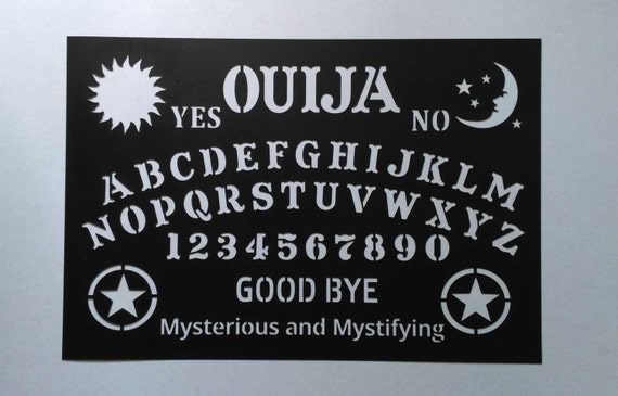 Stencil Ouija Board Talking Mystifying Halloween Painting