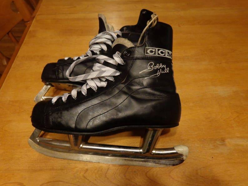 89f0af4c9 CCM Bobby Hull Leather hockey skates very good condition