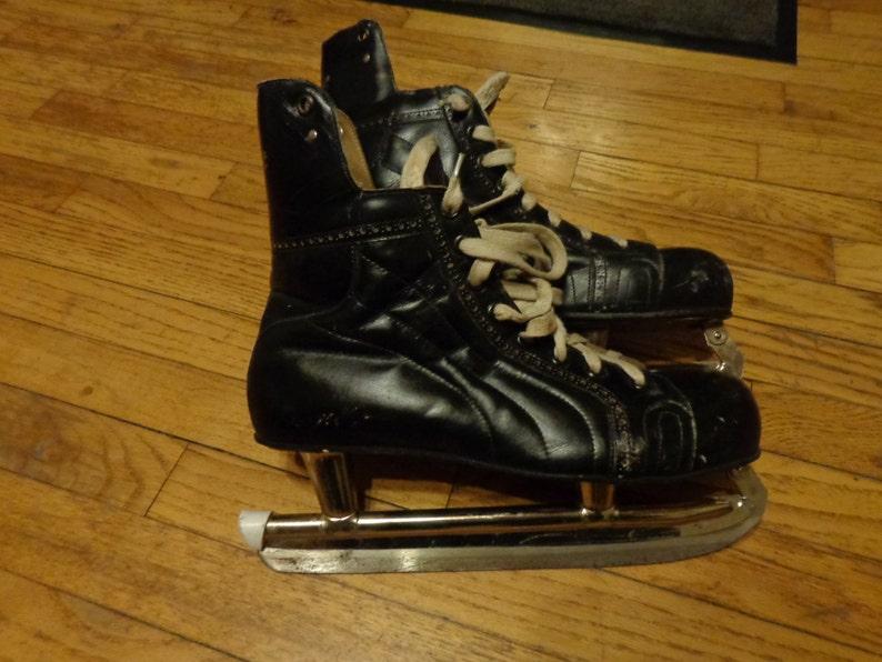 Vintage Mastercraft Leather Hockey Skates Canadian Tire Etsy