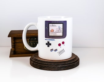 Dad Gift, Game Boy, Tetris, Zelda, Link, Megaman, Gameboy Mug, Gamer Mug, Gameboy Lovers Gift, Gift for Her, Wife to Husband Gift