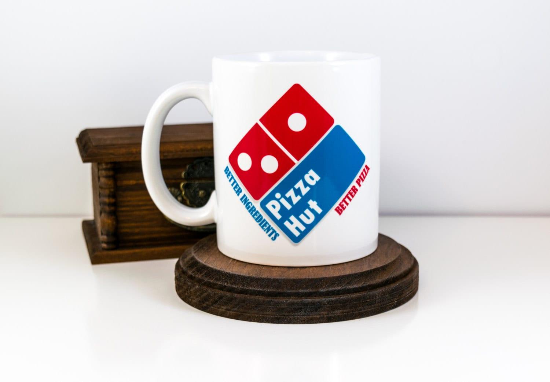 Pizza Lovers Mug Dominos Pizza Logo with Papa Johns and | Etsy