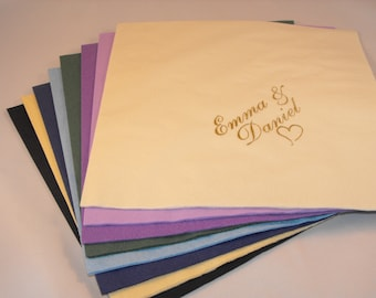 50 x Personalised napkins for all occasions