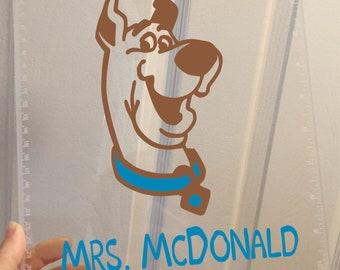 Scooby Doo Gift Clipboard Teacher Appreciation gift , Teacher gift, Teacher Appreciation Scooby Doo Fan Gift, clear or storage clipboard