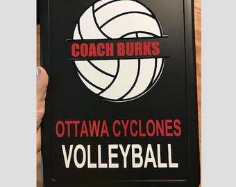 Volleyball Coach Gift Personalized Volleyball Clipboard With Name Also Dance Soccer Any Sport Custom Clear Or Storage Clipboard Case