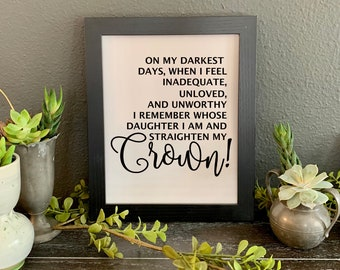 Quotes Always Wear Your Crown Sparkle Word Art Pictures Home Decor Sayings