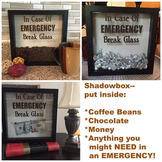 Decal only for diy shadow box in case of emergency break etsy image 0 maxwellsz